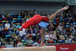 Золотая медаль от азербайджанских акробатов