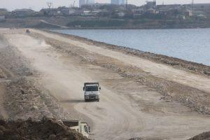 В Баку началось строительство новой автодороги (ФОТО)
