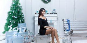 Участницы Miss Top Model Azerbaijan в новогодней фотосессии (ФОТО)