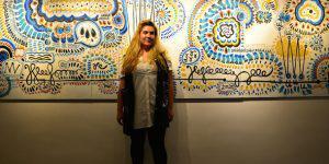 Российская художница представила в Баку оригинальный проект